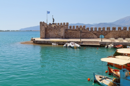 Scenic fishing village of Nafpaktos in Greece Stock Photo - 15986567