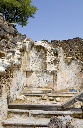kefallinia: Old church ruins at Kefalonia island in Greece Stock Photo