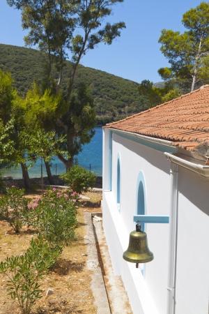 ionio: Traditional orthodox church at Ithaki island in Greece