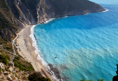 cefallonia: Mirtos beach at Kefalonia island in Greece