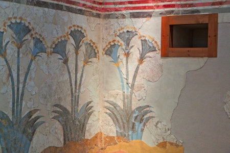 ancient atlantis: Santorini island in Greece  Ancient Akrotiri settlement