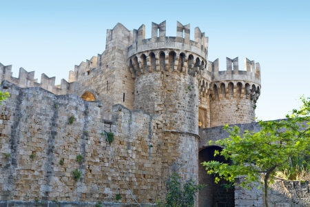 templars: Castle of the Knights at Rhodes island in Greece Editorial