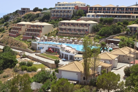 Luxurious hotel at the island of Kefalonia in Greece Stock Photo - 15986652