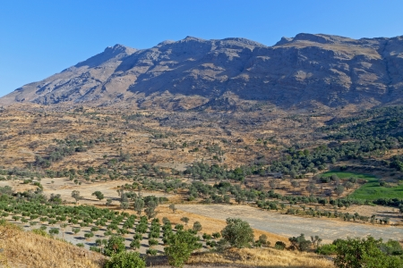 Typical landscape at Crete island in Greece