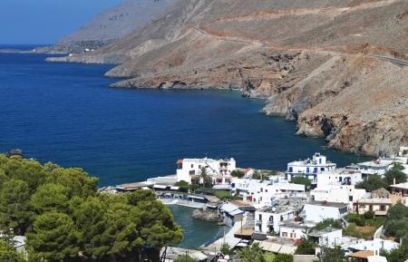 kreta: Sfakia fishing village at Crete island in Greece