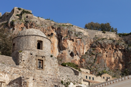 peloponnise: Traditional fortified village of Monemvasia in Greece