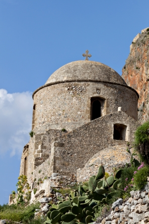 peloponnise: Fortified village of Monemvasia in Greece