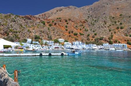 Loutro village at Crete island in Greece
