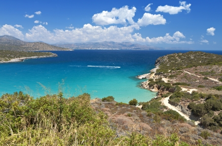 kreta: Mirabello gulf at Crete island in Greece