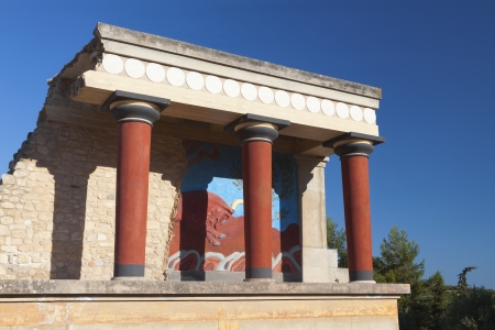 Knossos minoan ancient palace at Crete island in Greece