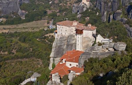 thessalia: Hanging monasteries at Meteora of Kalambaka in Greece Editorial