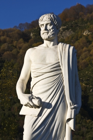 ancient philosophy: Aristotle statue located at Stageira of Greece