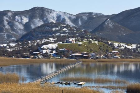 Prespes lake at north Greece  photo
