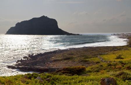 laconia: Monemvasia rock at Lakonia of Peloponnese in Greece