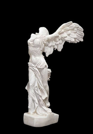 Greek classical ancient statue of Nike of Samothrace photo