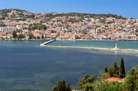 kefallonia: City of Argostoli at Kefalonia island in Greece