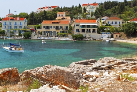 Fiscardo traditional village at Kefalonia island in Greece photo