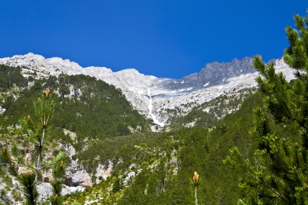 olympus: Olympus mountain and the top of Mytikas in Greece