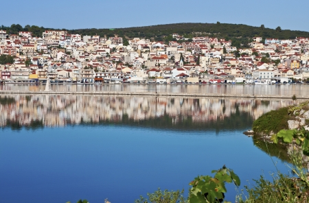 kefallinia: City of Argostoli at Kefalonia island in Greece
