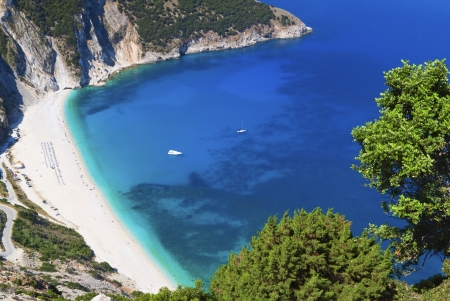 Mirtos beach at Kefalonia island in Greece photo
