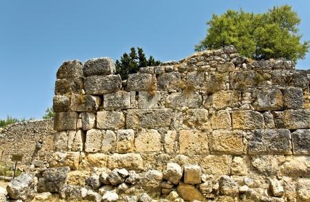 kefallinia: Cyclopic walls of ancient Sami at Kefalonia island in Greece Stock Photo