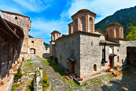 olimpo: San Dionisio iglesia en el Monte Olimpo en Grecia