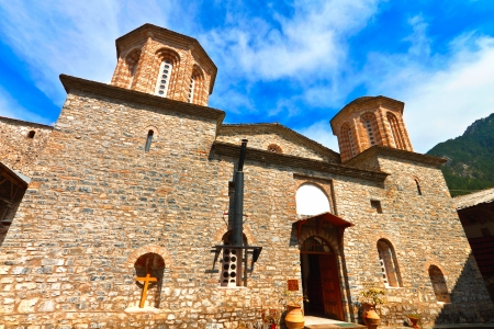 olympus: Saint Dionysios church at Mt  Olympus in Greece Stock Photo