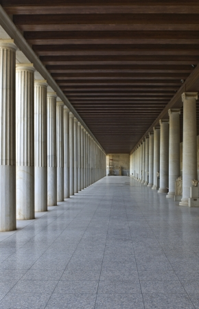 freemasonry: Stoa of Attalos at the ancient agora of Athens, Greece