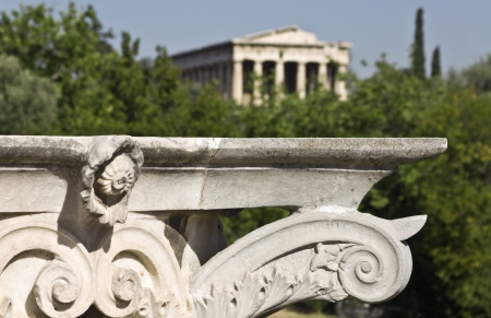 athenians: Temple of Hephaestus at ancient agora of Athens, Greece
