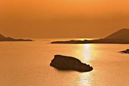 Cape sounio at Attica, Greece, Poseidon temple area  photo