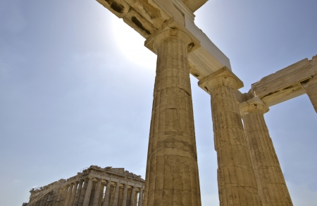 economic revival: Propylaea at the Acropolis of Athens in Greece