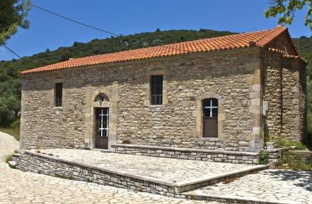 arkadia: Old church at Figalia village, Arcadia, Greece Stock Photo