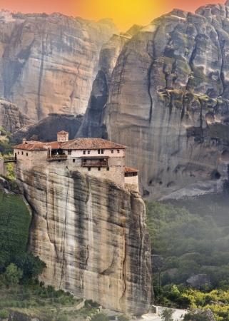 kalabaka: Hanging monastery at Meteora of Kalampaka in Greece
