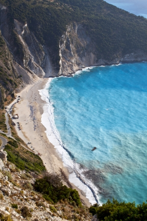 kefallonia: Mirtos beach at Kefalonia island in Greece