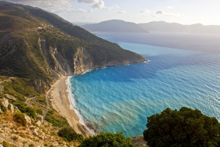 kefallinia: Mirtos beach at Kefalonia island in Greece