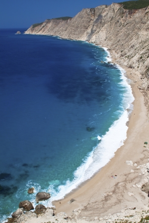 kefallinia: Platia Ammos beach at Kefalonia island in Greece