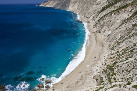 kefallonia: Platia Ammos beach at Kefalonia island in Greece