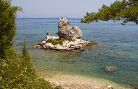poros: Scenic beach at Poros of Kefalonia island in Greece