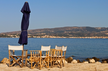 kefallinia: Beach bar at Kefalonia island in Greece