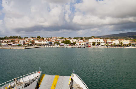 kefalinia: Harbor of Lixouri city at Kefalonia island in Greece