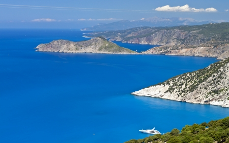 Kefalonia island in Greece at the ionian sea photo