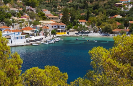 cefallonia: Village of Assos at Kefalonia island in Greece