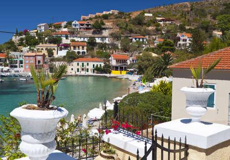 kefallinia: Village of Assos at Kefalonia island in Greece