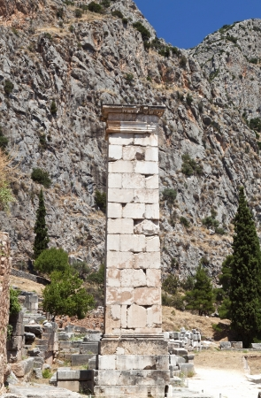 oracle: Ancient Delphi oracle in Greece Stock Photo