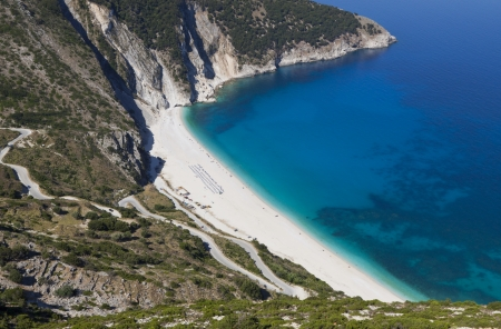 ionio: Mirtos beach at Kefalonia island in Greece