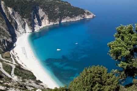 Mirtos beach at Kefalonia island in Greece