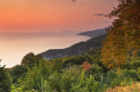 Tsagarada area landscape from Pelion in Greece Stock Photo - 16041876