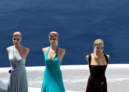 kyklades: Santorini island in Greece