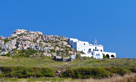 kyklades: Monolithos at Santorini island in Greece