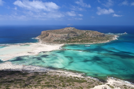Landscape of Balos beach at Crete island in Greece photo